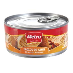 Trozos Atún E/Aceite Vegetal 170 g Metro