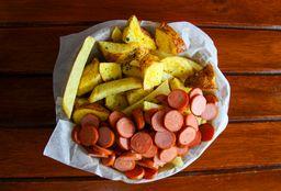 Salchipapa con Hot Dog Ahumado
