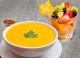 Crema de Verduras + Ensalada de Frutas