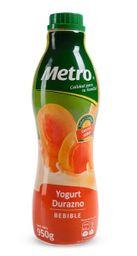 Yogurt Bebible Sabor Durazno Metro Botella 950 G
