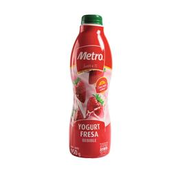 Metro Yogurt Bebible Sabor Fresa Botella
