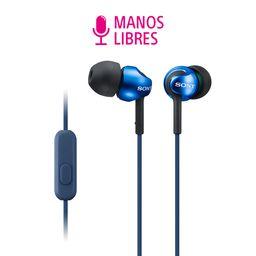 Audífonos in-ear micrófono MDREX110AP Azul