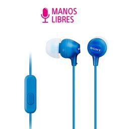 Audífonos in-ear micrófono MDR-EX15AP Azul