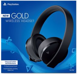 Headset Play Station Gold Wireless Stereo Black 1 U