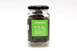 Chocolate Orgánico Amazona Chocolate Monedas Semidulce 55% 200 g