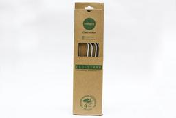 Cañitas Metálicas Eco Straw Ecologics + Limpiador Regular 5 U