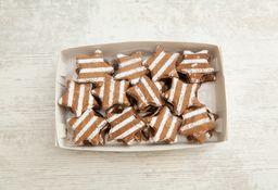 Caja Grande de Alfajores Navidad Chocolate