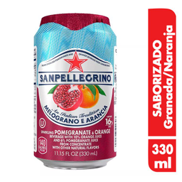 San Pellegrino Agua Carbonatada Melograno E Arancia
