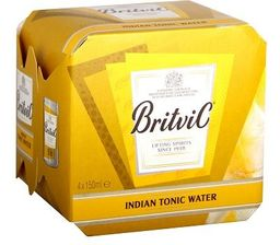 Four Pack Agua Tonica Britvic Lata 150 Ml