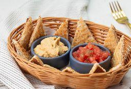 Pan Árabe, Hummus y Tomate
