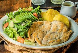 Pollo a la Plancha con Ensalada y Papa Amarilla