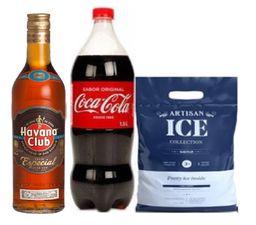 Ron Havana Añejo Special + Coca Cola  + Hielo Artisan