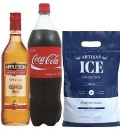 Ron Appleton Special Rubio+ Coca Cola 1.5Lt + Hielo Artisan 3 Kg