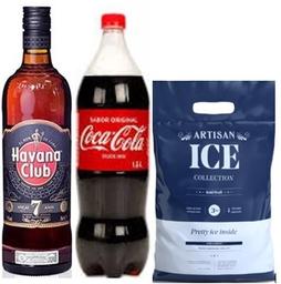 Ron Havana Club 7 Años +Coca Cola 1.5Lt + Hielo Artisan 3 K