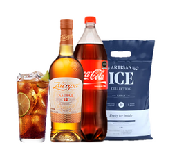 Ron Zacapa Ambar + Coca Cola 1.5 L + Hielo Artisan 3Kg
