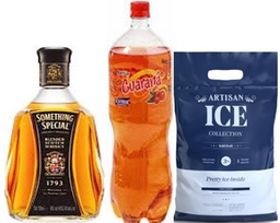 Whisky Something Special 750Ml+Guarana 2 Lt + Hielo  Artisan 3Kg