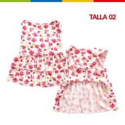 Boga Vestido Tulipanes Hembra Talla 02 (Ch0263A-02 )
