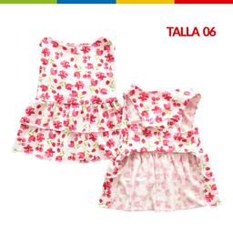 Boga Vestido Tulipanes Hembra Talla 06 (Ch0263A-06 )