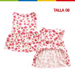 Boga Vestido Tulipanes Hembra Talla 08 (Ch0263A-08 )