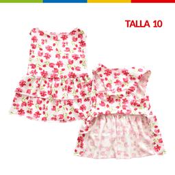 Boga Vestido Tulipanes Hembra Talla 10 (Ch0263A-10 )