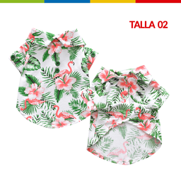 Boga Camisa Hawaii Verde Macho Talla 02 (Cm0266A-02 )