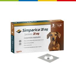 Simparica 20 Mg ( 5 - 10 Kg ) Por Unidad  (01001010)