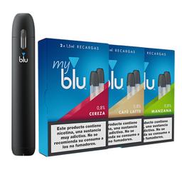 Vapeador Blu Color Negro + 01 Caja con 02 PODS