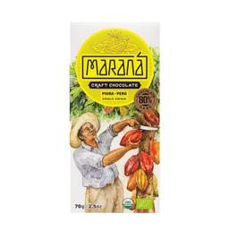 Maraná Tabla De Chocolate Piura Dark 80% Cacao