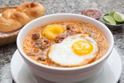 Sopa Criolla + Alfajor + Pan de la Casa + Chicha