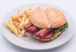 Sándwich Hot Dog Power