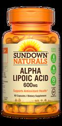 Vitamina Alpha Lipoic Acid 60 Capsulas 600 mg