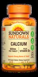 Vitamina Calcio mas Vitamina D 120 Tabletas 600 Mg