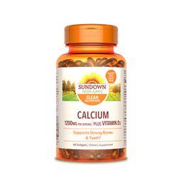 Vitamina Calcio mas Vitamina D 60 Capsulas 1200 mg 25 mcg