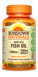 Sundown Vitamina Fish Oil Odorless 1200 Mg