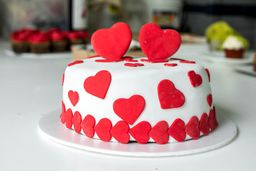 Torta Decorada de San Valentín