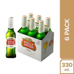 Cerveza Stella Artois Six Pack Botella