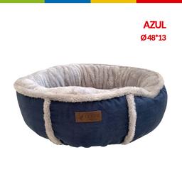 Cama Redonda Felpa Azul  16 (Qs111101)