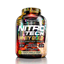 Nitro Tech 100% Whey Gold Vainilla 5.5Lb