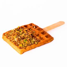 Waffle de Vainilla con Caramelo