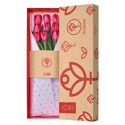 Caja 9 Tulipanes Rojos Natural