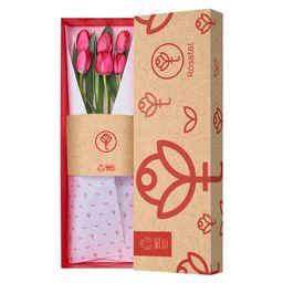 Caja Roja De Tulipanes X 6 Unid