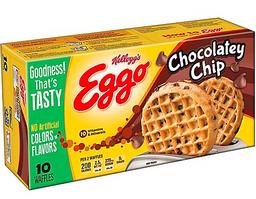Waffle Chocolate Chip Eggo X 349Gr