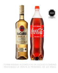 Ron Bacardi Carta Oro 750 Ml + Coca Cola 1.5 Lt +HieloArtisan3Kg
