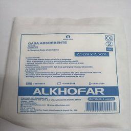 Alkofarma Gasa Absorbente M 7.5X7.5 Cm