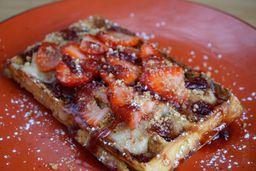 Waffle Tartaleta de Fresa