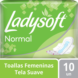 Toallas Higienicas Lady Soft Normal Tela 10 U
