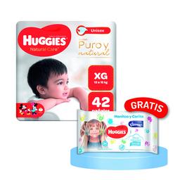 Pañal Huggies Natural Care XG 42 Und