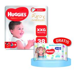Pañal Huggies Natural Care XXG 38 Und