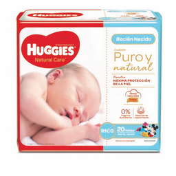 Pañal Huggies Natural Care Recien Nacido 20 Und