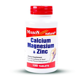 Multivitaminico Mason Natural Calcio Magnesio Zinc 100 Tabletas